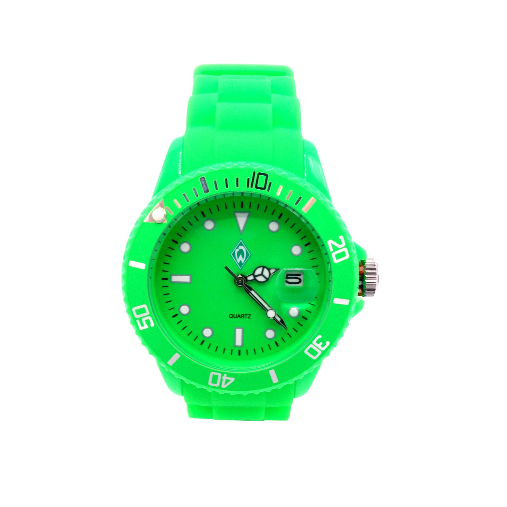 Werder Bremen Armbanduhr Candy Neon Grün