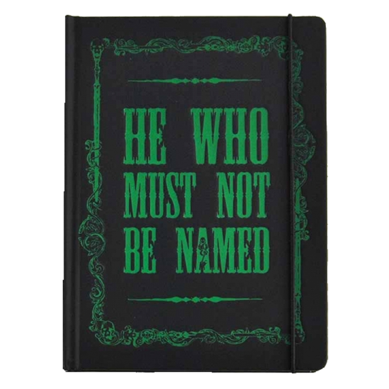 """Harry Potter A5 Notizbuch Notebook """"He who must not be named"""""""