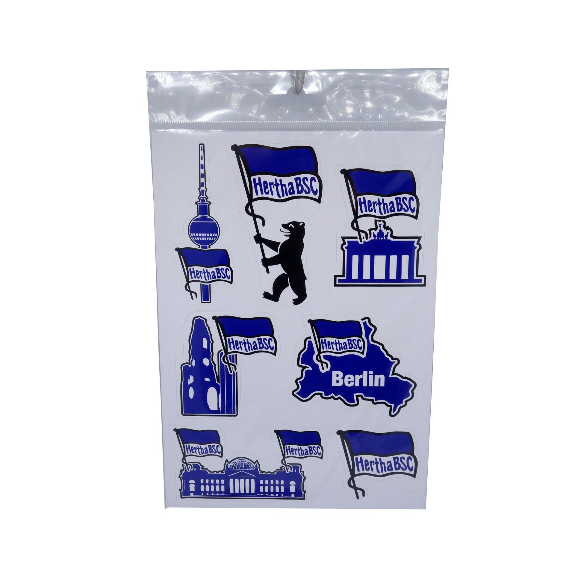 Hertha BSC Aufkleberkarte Sehenswürdigkeiten Berlin Sticker