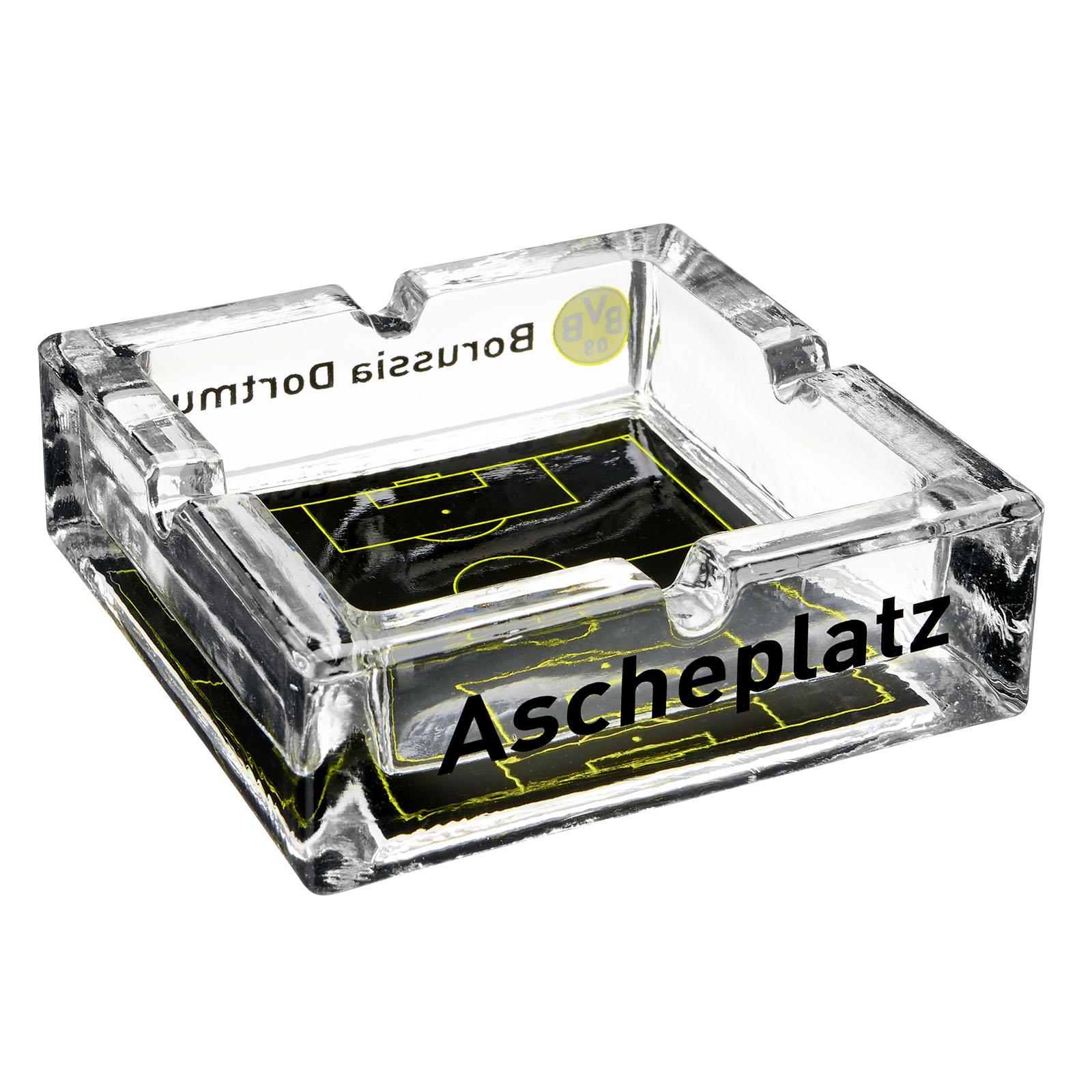 BVB Glas Aschenbecher