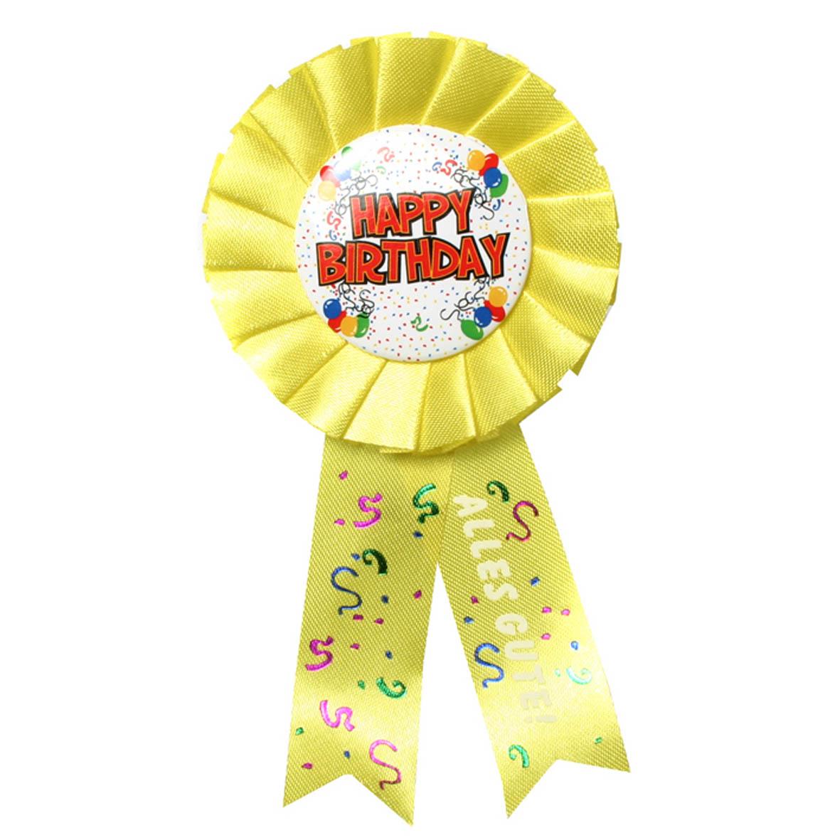"""Geburtstagsdekoration """"Happy Birthday"""" Geschenkidee Rosette Anstecker"""
