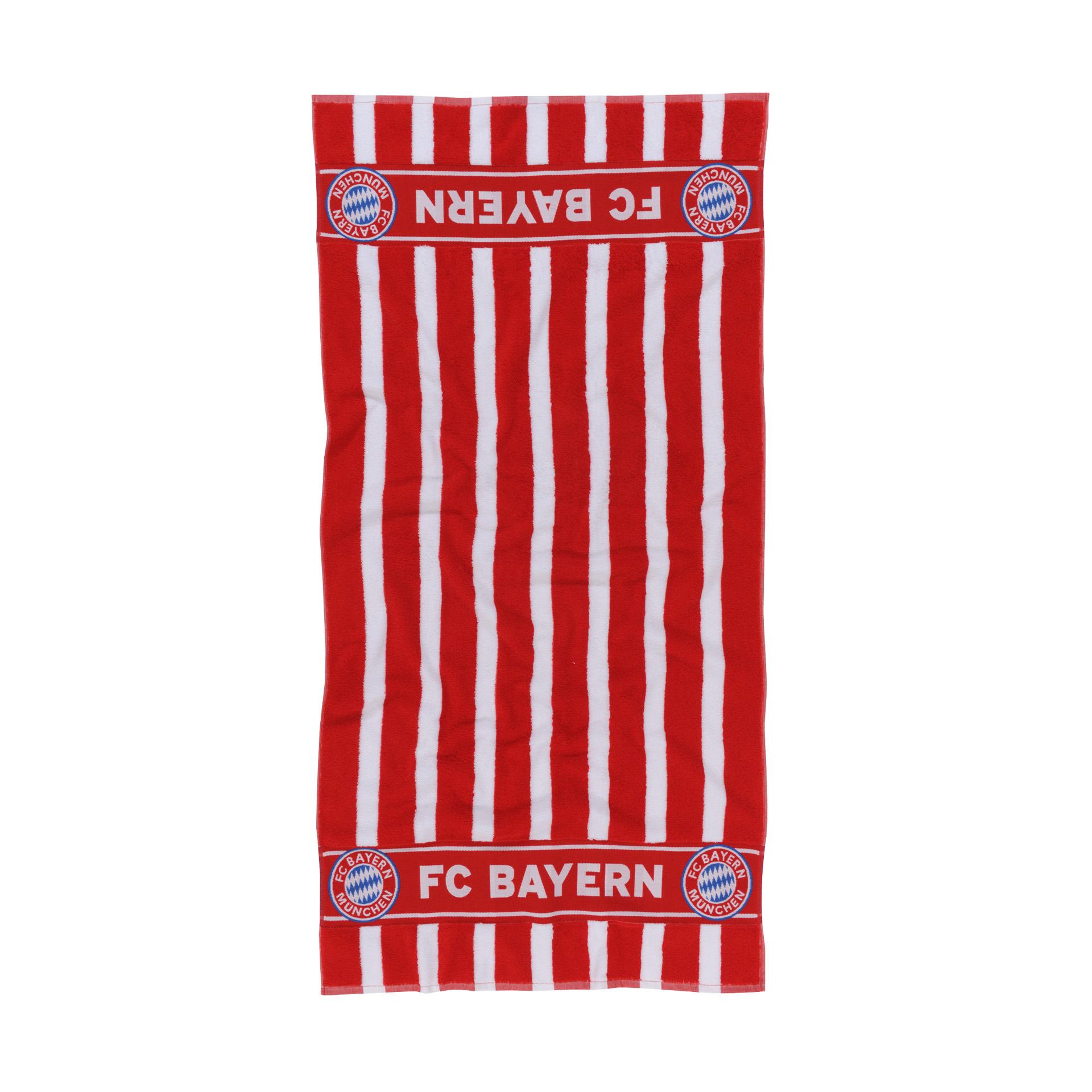 FC Bayern Duschtuch Blockstreifen