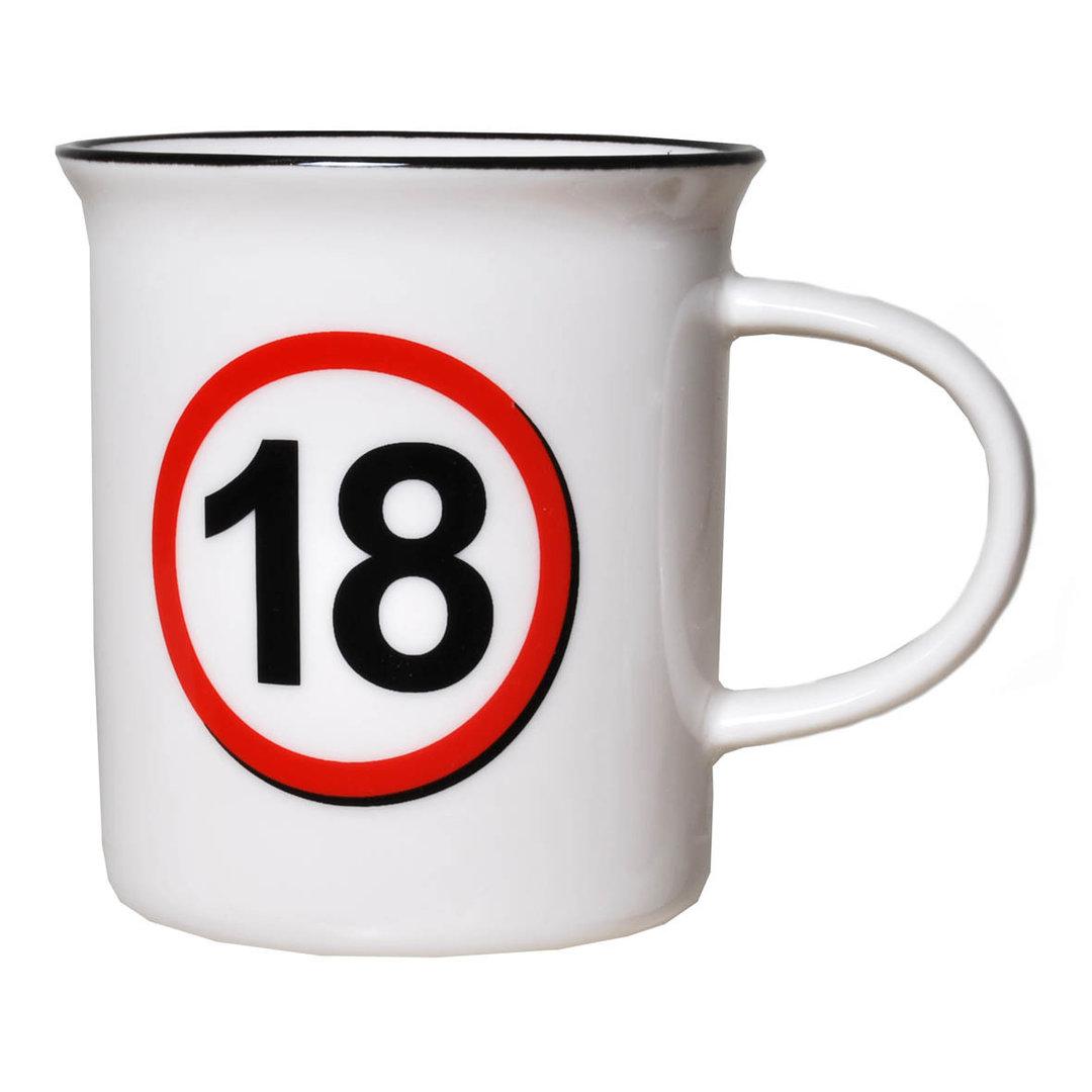 """Geburtstagsgeschenk Tasse """"18"""" Becher"""