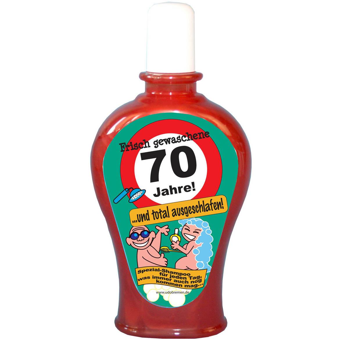 """Geburtstagsgeschenk Shampoo """"70"""" Spaßartikel"""