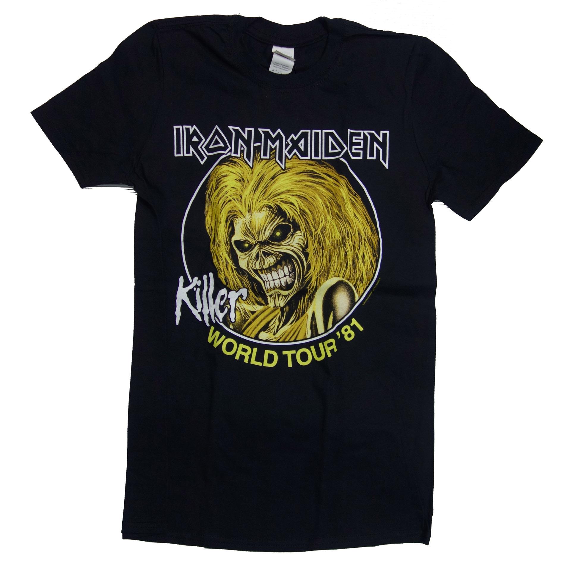 T-Shirt Iron Maiden Killers World Tour 1981