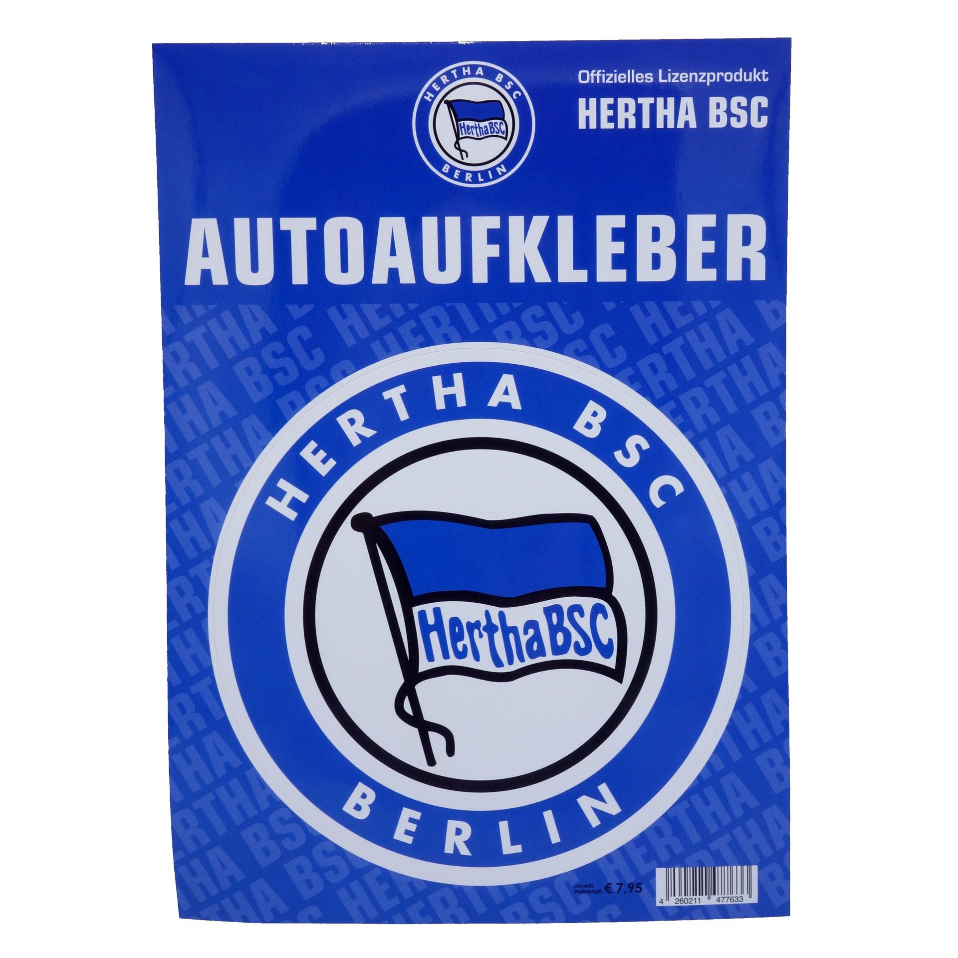 Hertha BSC Autoaufkleber Groß