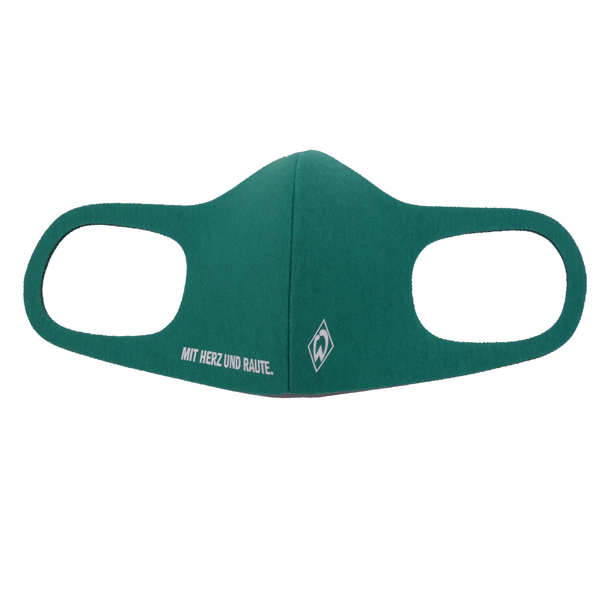 Stoffmaske Werder Bremen Mund-Nasen-Maske Grün Logo