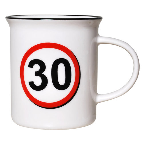 """Geburtstagsgeschenk Tasse """"30"""" Becher"""