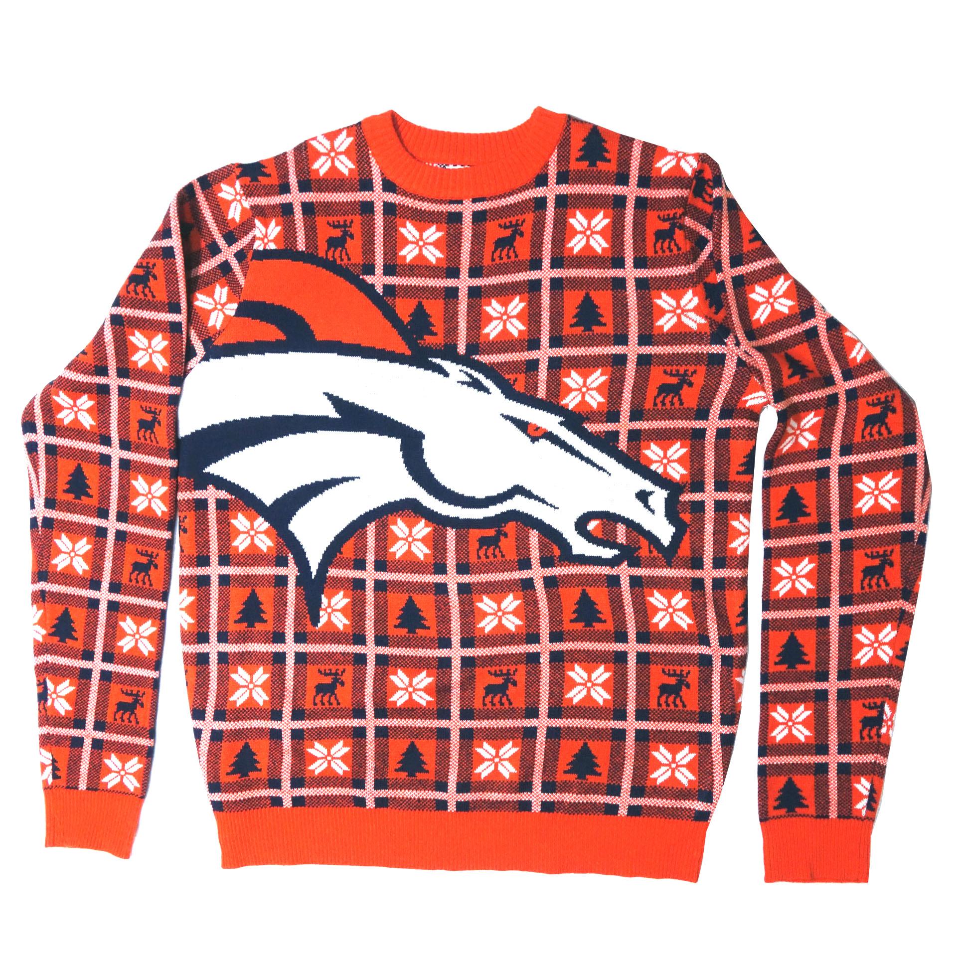 NFL Pullover Christmas Denver Broncos Ugly Sweater