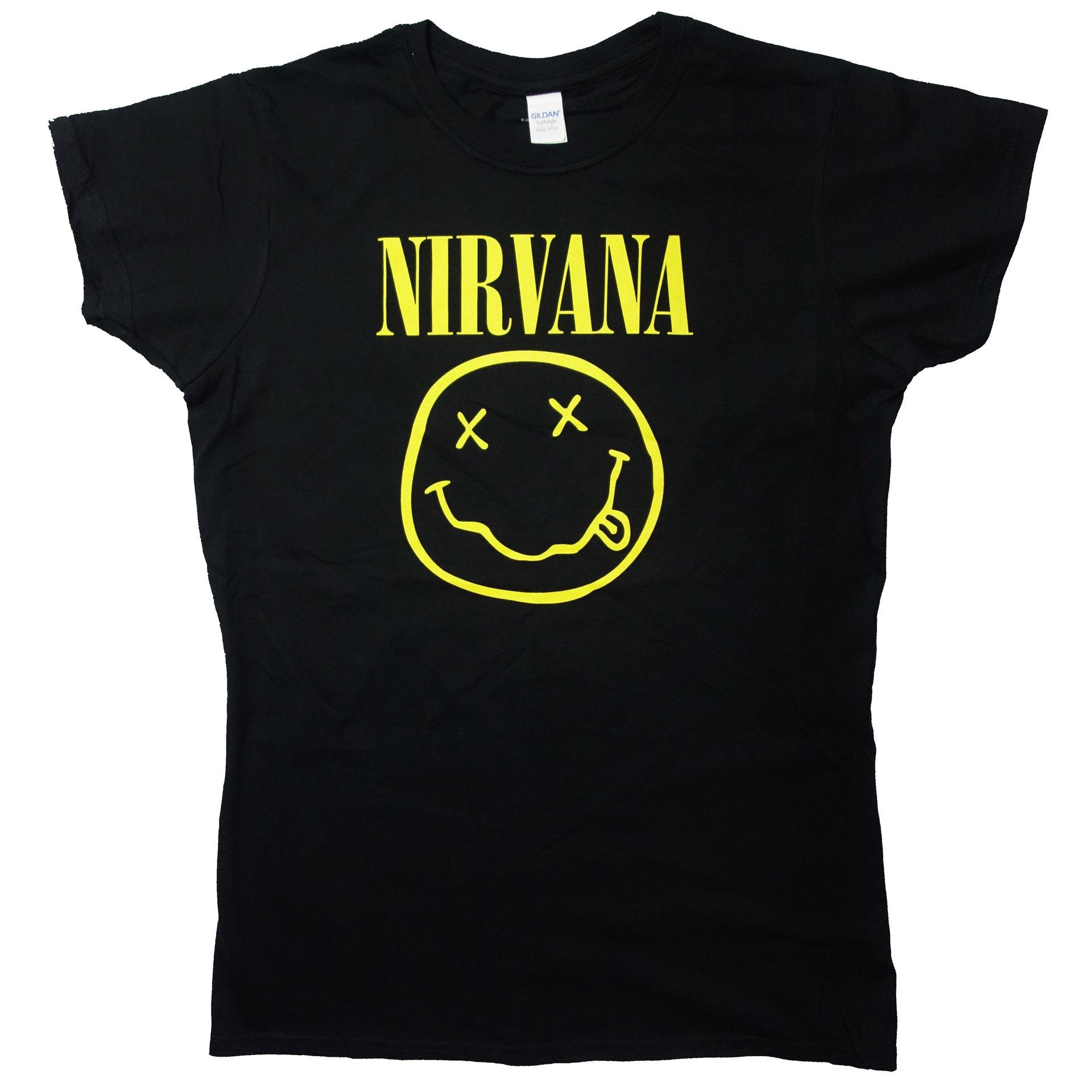 Lady T-Shirt Damen Nirvana Smiley
