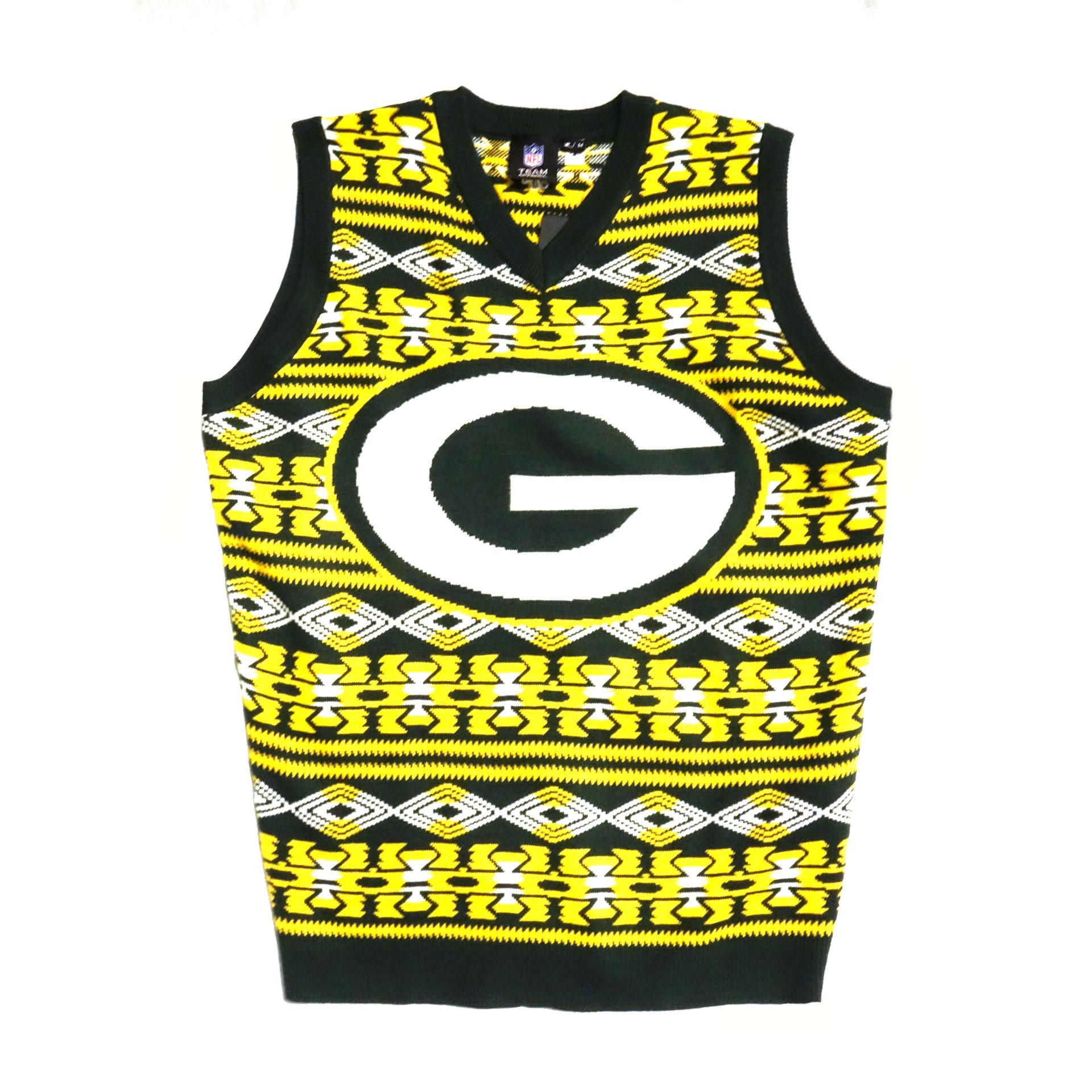 NFL Pullover ärmellos Weihnachten Green Bay Packers Ugly Sweater
