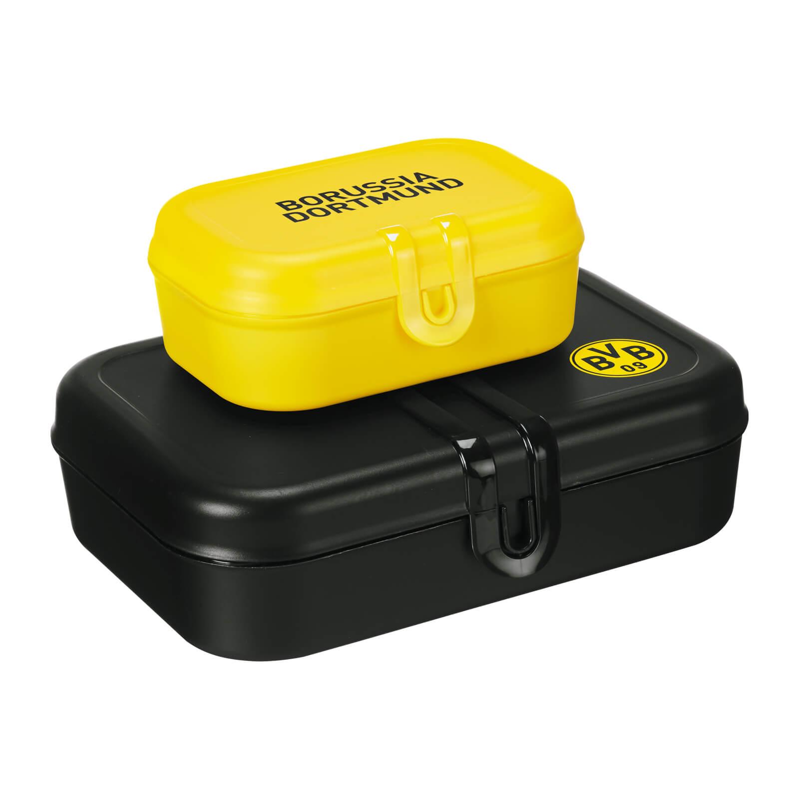 BVB Brotdosen 2er Set Schwarz Und Gelb