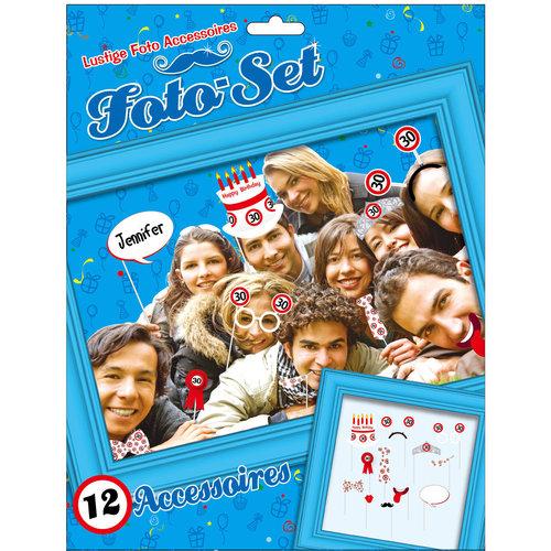 """Geburtstagsdekoration Partyidee Foto-Set """"30"""" Lustige Foto Accessoires"""