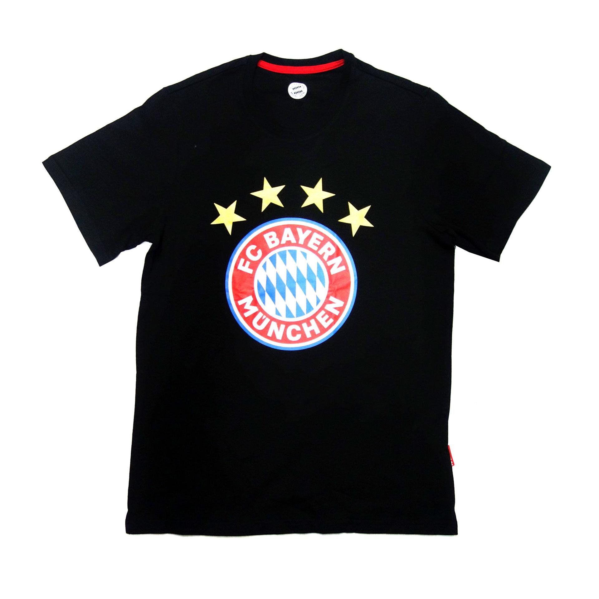 FC Bayern Fan T-Shirt Logo Schwarz